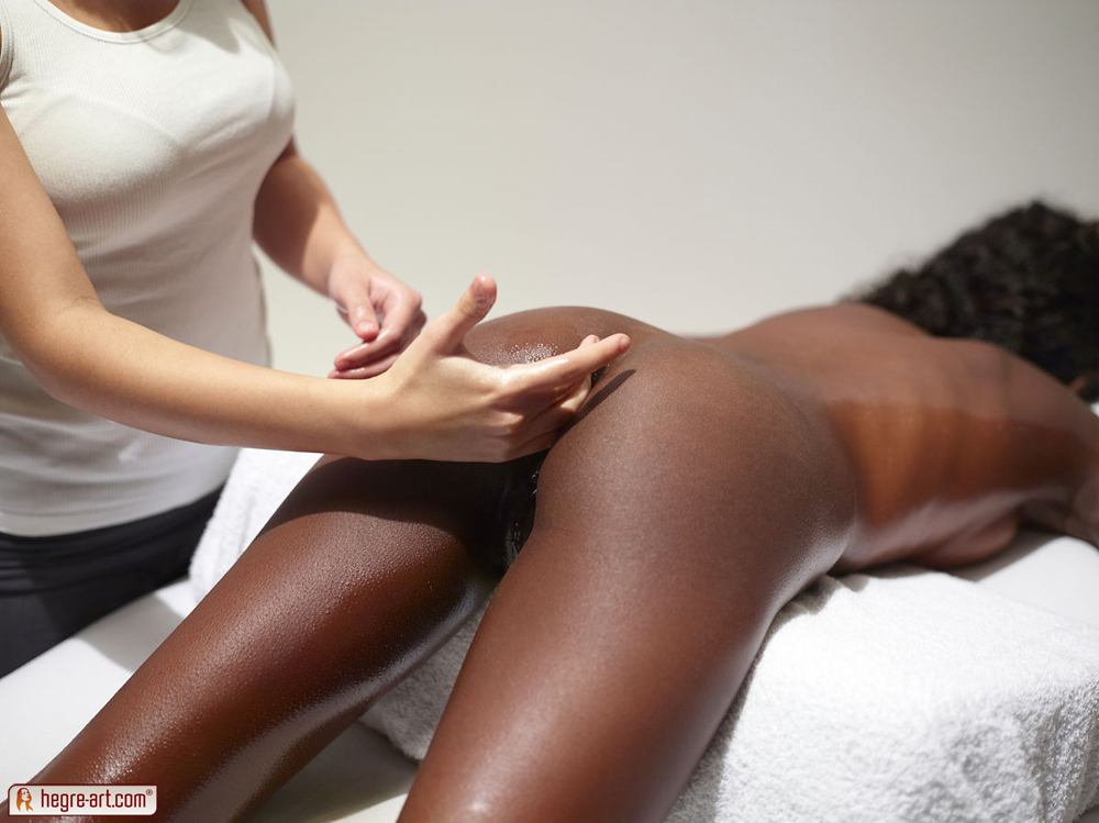 Hot Massage From Sexy Ebony